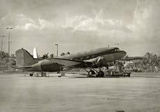 Avion DC-3 classique Photo libre de droits