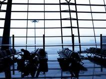 avion de attente de voyageur Photo libre de droits