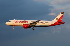Avion de Berlin Airbus A320 d'air Images stock