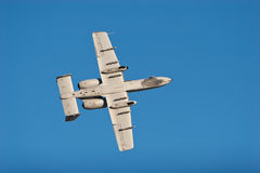 Avion de bombardier d'A-10 War5thog Images libres de droits