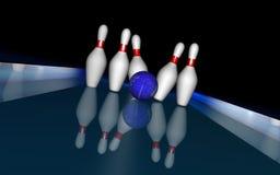 avion de bowling de 4 bleus Photos stock