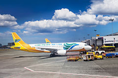 Avion de Cebu Pacific Image stock