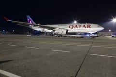 Avion de charge du Qatar Photo stock