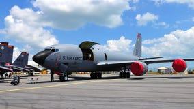 Avion de charge militaire de l'U.S. Air Force Boeing chez Airshow 2010 Image stock