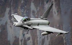Avion de chasse d'Eurofighter Typhoon photographie stock libre de droits