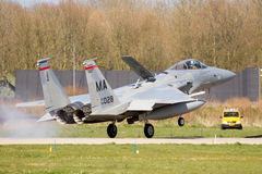 Avion de chasse de F-15 Eagle Photo libre de droits