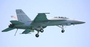 Avion de chasse du frelon F-18 Images libres de droits