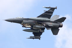 Avion de chasse F-16 Photo libre de droits