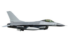 Avion de chasse F-16 d'isolement image libre de droits