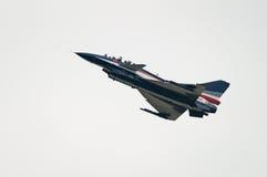 Avion de chasse J-10 d'équipe acrobatique aérienne de Bai photographie stock