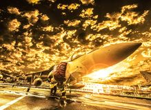 Avion de chasse de McDonnell Douglas Harrier II, italien photo stock
