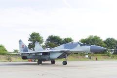 Avion de chasse slovaque de MIG 29 image libre de droits