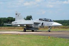 Avion de chasse tchèque de Saab JAS-39 Gripen de l'Armée de l'Air Photos libres de droits