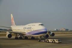Avion de China Airlines Photos libres de droits