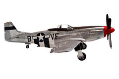 Avion de combat américain de mustang photographie stock libre de droits