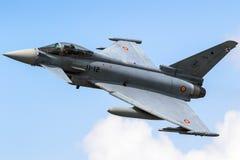 Avion de combat d'Eurofighter Typhoon d'armée de l'air de l'Espagne Photos libres de droits