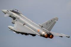 Avion de combat d'ouragan d'Eurofighter Images libres de droits