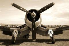 Avion de combat de corsaire Images stock