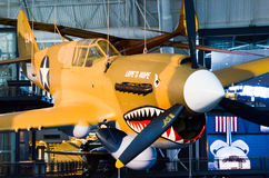 Avion de combat de Curtiss P-40 Tomahawk Image stock