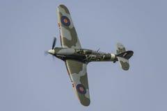 Avion de combat de Hurricane de colporteur images stock