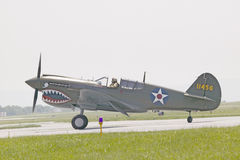 Avion de combat de P-40E WarHawk Photo stock