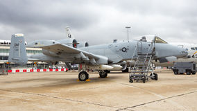 Avion de combat de phacochère de l'Armée de l'Air d'USA A-10 Photos stock