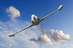 Avion de combat de propulseur de guerre Images libres de droits