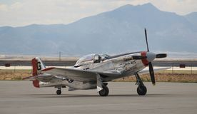 Avion de combat P-51 Photographie stock libre de droits