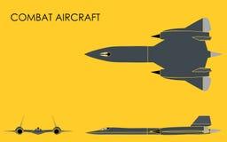 Avion de combat sans contour illustration libre de droits