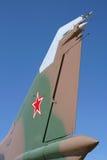 Avion de combat soviétique Images libres de droits