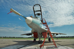 Avion de combat ukrainien de l'Armée de l'Air MiG-29 Photo libre de droits