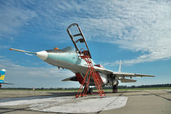 Avion de combat ukrainien de l'Armée de l'Air MiG-29 Photographie stock