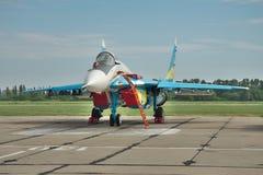Avion de combat ukrainien de l'Armée de l'Air MiG-29 Image stock