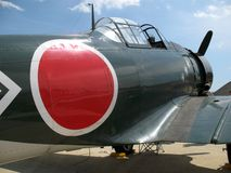 Avion de combat zéro de WWII Photographie stock
