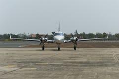 Avion de décollage Photographie stock libre de droits