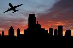 avion de départ de Dallas illustration de vecteur