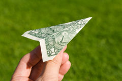 Avion de dollar US Photo stock