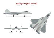 Avion de guerre sur le fond blanc illustration stock