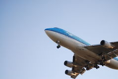Avion de KLM photo libre de droits