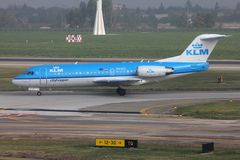 Avion de KLM Photos libres de droits