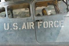 Avion de l'Armée de l'Air d'USA dans le musée de restes de guerre Saigon, Vietna Image stock