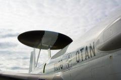 Avion de l'OTAN avec le radar spécial Photographie stock
