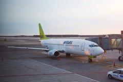 Avion de ligne d'Airbaltic Photos libres de droits