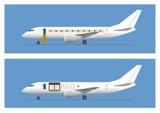 Avion de ligne de jet et avions de cargaison Photo libre de droits