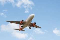 Avion de lignes aériennes d'Easyjet Images libres de droits