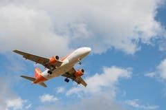 Avion de lignes aériennes d'Easyjet Photographie stock
