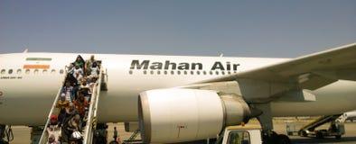 Avion de Mahan d'Iranien photo stock