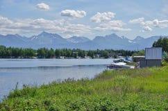 Avion de mer au capot de lac en Alaska Image libre de droits