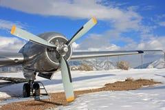 Avion de militaires de vintage Photographie stock libre de droits