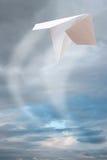 Avion de papier Photos libres de droits